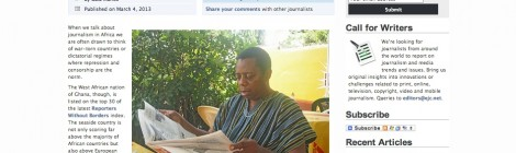 Six Ways The World Can Learn From Ghana About Press Freedom: Article on EJC Magazine
